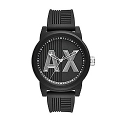 Armani Exchange - Mens Black silicone watch