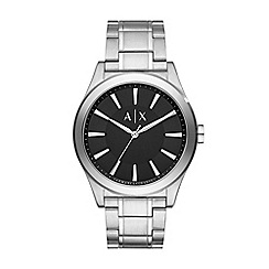 Armani Exchange - Mens Steel and black bracelet watch