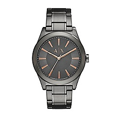 Armani Exchange - Mens Grey and Rose Bracelet Watch