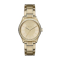 Armani Exchange - Ladies Gold bracelet watch