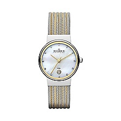 Skagen - Ladies two tone mesh strap watch 355ssgs