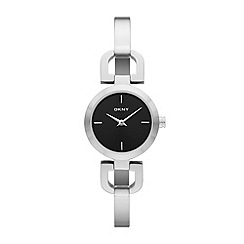 DKNY - Ladies silver horseshoe lug bracelet watch