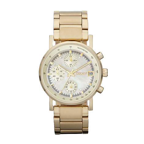 DKNY - Ladies gold chronograph dial bracelet watch