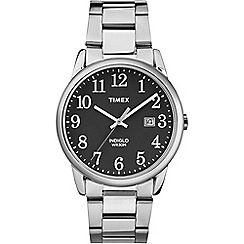 Timex - Mens Easy Reader black dial with stainless steel bracelet watch