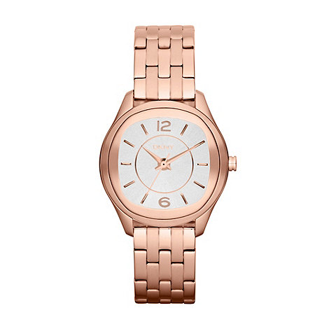 DKNY - Ladies rose round dial bracelet watch