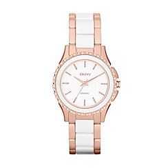 DKNY - Ladies rose and white bracelet watch ny8821