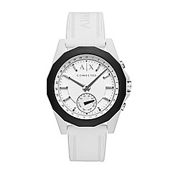 Armani Exchange - Men's white hybrid smartwatch