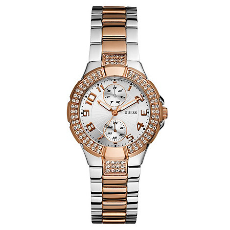 Guess - Ladies+ silver and bronze bracelet watch