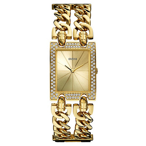 Guess - Ladies+ gold chain watch