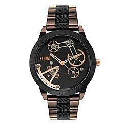 STORM London - Men's black 'mexo' multi dial metal bracelet strap watch mexo brown