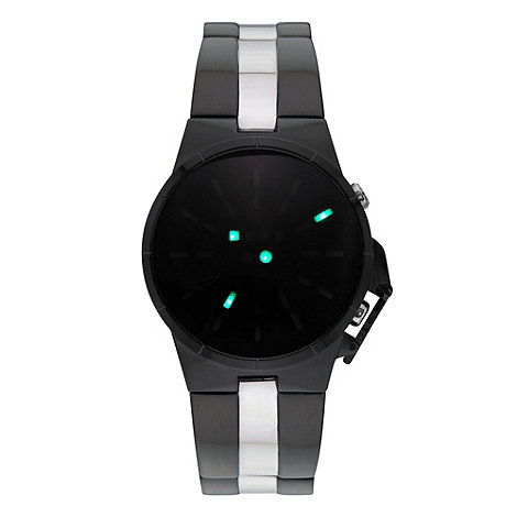 STORM - Men+s black solar dial bracelet watch