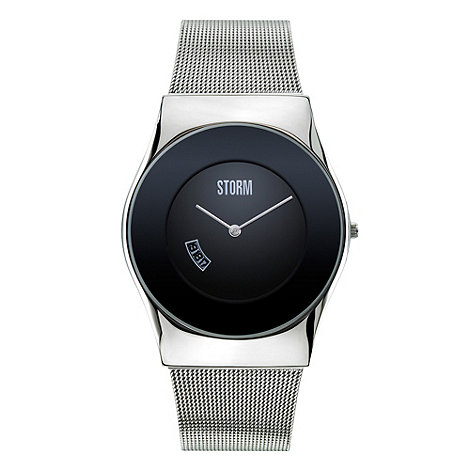 STORM - Men+s silver +cyro+ analogue dial mesh strap watch