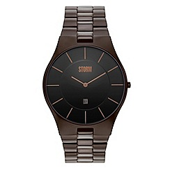STORM - Men's brown analogue dial bracelet strap watch