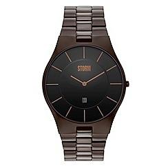 STORM - Men's brown analogue dial bracelet strap watch