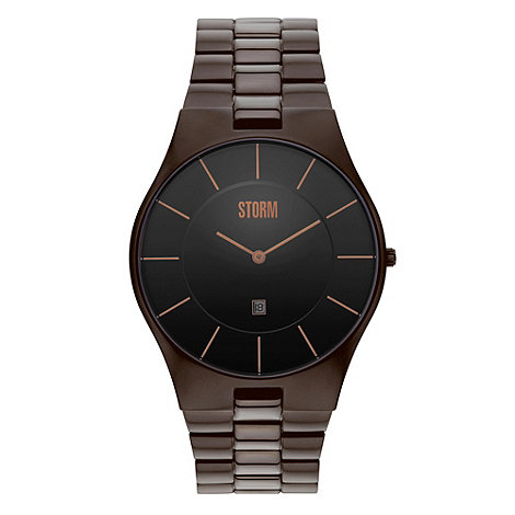 STORM - Men+s brown analogue dial bracelet strap watch