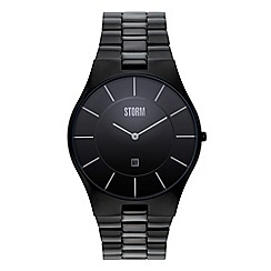 STORM - Men's black analogue dial bracelet strap watch