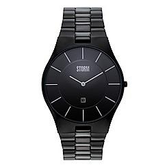 STORM - Men's black analogue dial bracelet strap watch