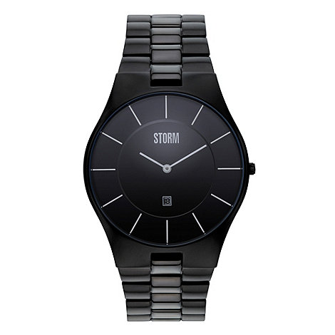 STORM - Men+s black analogue dial bracelet strap watch