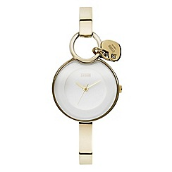 STORM - Ladies gold stainless steel round dial watch