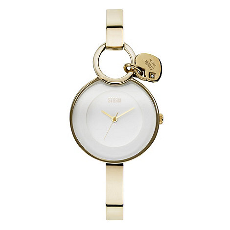 STORM London - Ladies gold stainless steel round dial watch