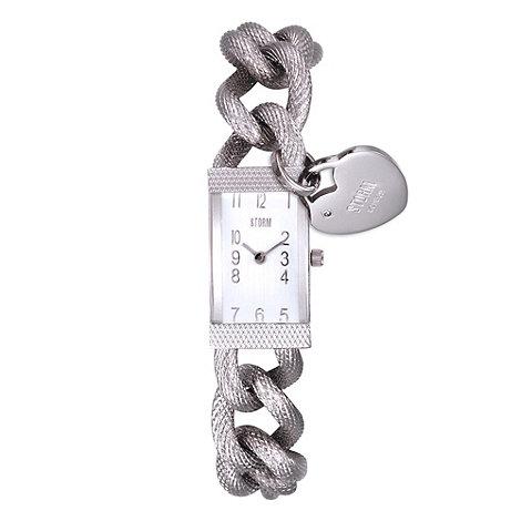 STORM - Ladies stainless steel chain link bracelet watch