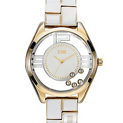 STORM - Ladies gold SWAROVSKI crystal watch