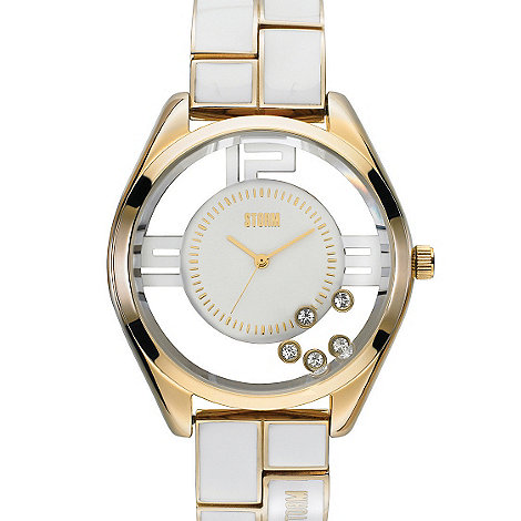 STORM London - Ladies gold SWAROVSKI crystal watch pizaz gold