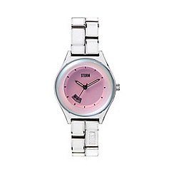 STORM - Ladies white enamel link bracelet watch