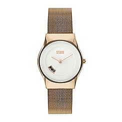 STORM - Ladies gold mesh strap watch