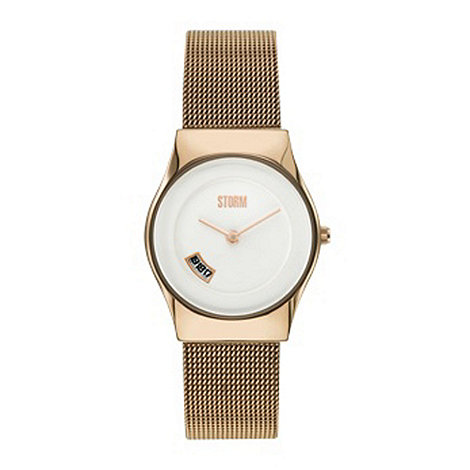 STORM London - Ladies gold mesh strap watch