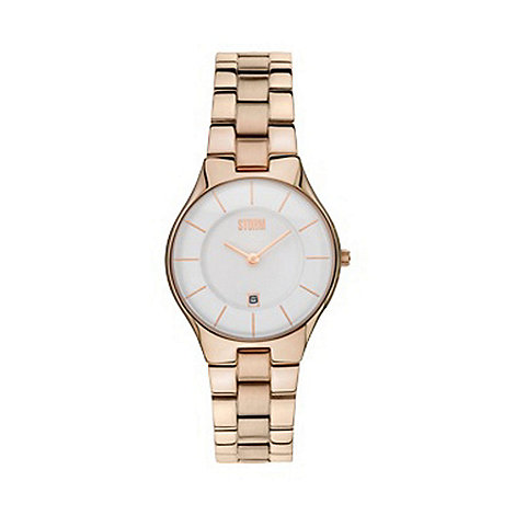 STORM - Ladies rose round dial watch