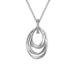 Hot Diamonds - Silver chandelier necklace