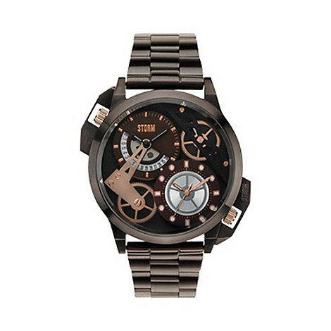 STORM - Men+s bronze multi dial watch