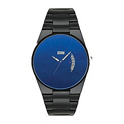 STORM - Men's black blue dial watch