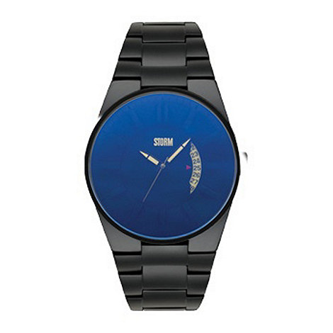 STORM London - Men+s black blue dial watch blackoutlazerbl