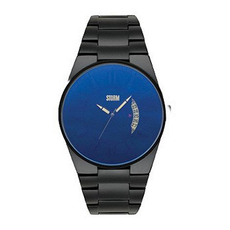 STORM London - Men+s black blue dial watch