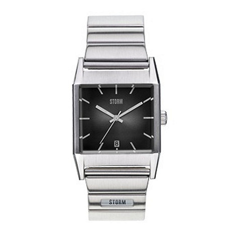 STORM London - Men+s silver square dial watch