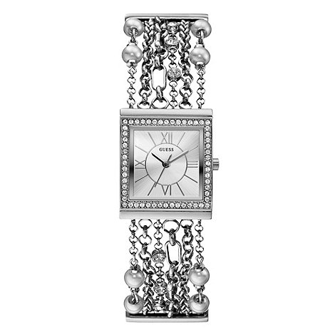 Guess - Ladies+ silver multi-chain bracelet watch