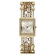 Women's' gold multi-chain bracelet watch