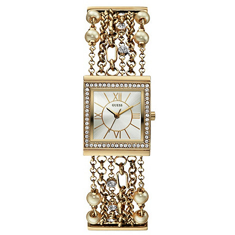Guess - Ladies+ gold multi-chain bracelet watch