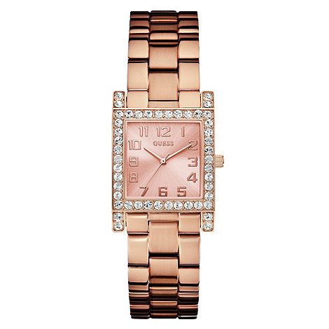 Guess - Ladies+ rose square dial bracelet watch