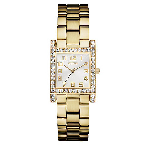 Guess - Ladies+ gold square dial bracelet watch