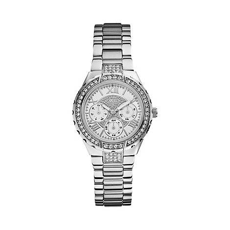 Guess - Ladies+ silver round dial bracelet watch