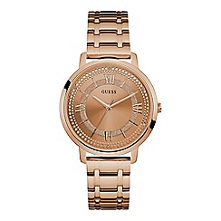 Guess - Ladies rose gold watch with rose dial and rose gold bracelet