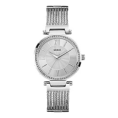 Guess - Ladies silver watch with wire bracelet