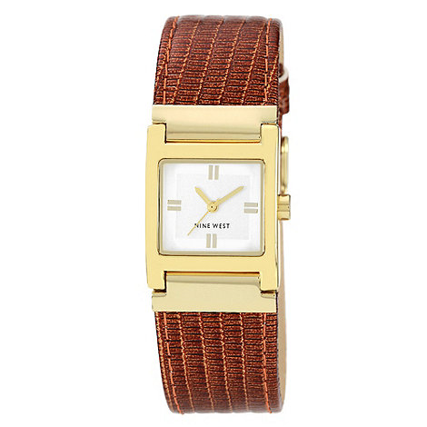 Nine West - Ladies tan square dial watch