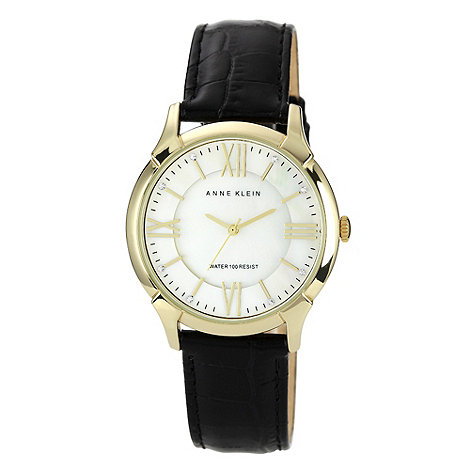 Anne Klein - Ladies white round dial strap watch