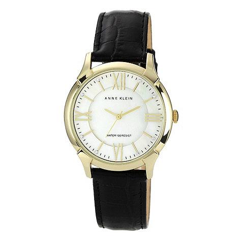 Anne Klein - Ladies white round dial strap watch