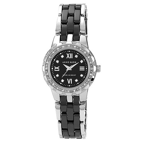 Anne Klein - Ladies rose diamante bezel and link watch