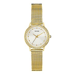 Guess - Ladies yellow gold watch with mesh gold bracelet